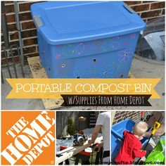 Portable Compost Bin created with supplies from The Home Depot #ad #digin
