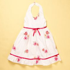 Halter Dress with Floral Embroidery $11.99