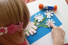 Handmade Mother's Day Cards for Kids: 3-D Flowers