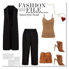 """""""Street!"""" by tatajrj ❤ liked on Polyvore featuring French Connection, Aquazzura, Iris & Ink and Maison Margiela"""