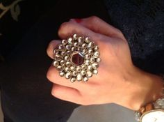 Bridal Arsi Ring with a Mirror