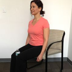 """Work Out with a Water Bottle...  Sit halfway off chair with back straight, shoulders down, and pulled back. Place a plastic water bottle between your knees. Line up ankle with knee, so that thighs and calves are at a 90-degree angle. Make sure feet are about 4"""" apart. Squeeze the water bottle 30 times."""