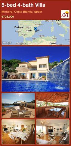 5-bed 4-bath Villa in Moraira, Costa Blanca, Spain ►€725,000 #PropertyForSaleInSpain
