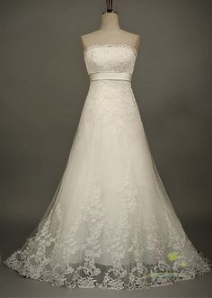 Sylvia/wedding gown/women clothing/bridal dress/long/lace/taffeta/elegant/custom made/ALL SIZE. $400.00, via Etsy.