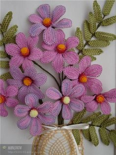 Fabulous!  I could see these on a sweater, not necessarily as a floral bouquet.