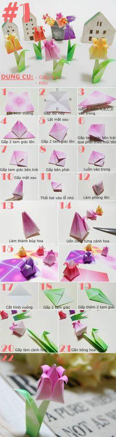 4 cách đơn giản để có hoa giấy xinh xắn