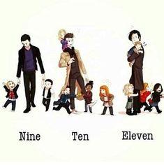 amy pond, christopher eccleston, cute, david tennant, doctor who, fan art, martha jones, matt smith, rose tyler