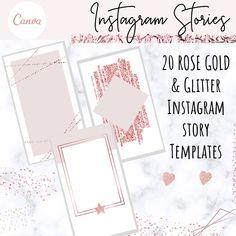 Instagram Story Templates - Instagram Stories, Rose Gold, Marble, Blush Pink, Instagram Story, Instagram Templates