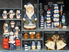 Clay Magic Ceramic Molds page 136 bell Tole Painting, Ceramic Painting, Christmas Crafts, Christmas Decorations, Holiday Decor, Christmas Ideas, Class Projects, Projects To Try, Navidad