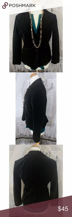 """Ann Taylor Black Velvet Blazer Stunning velvet blazer perfect for the upcoming holidays. Excellent used condition. Measurements: waist - 17"""", length - 22"""" Ann Taylor Jackets & Coats Blazers"""