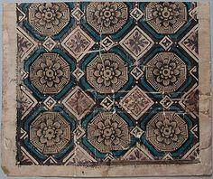 Domino Paper, 1715–25. 1715–25. Block-printed, stencilled. Gift of Eleanor and Sarah Hewitt. 1928-2-81.