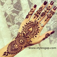 Simple & Easy Eid Mehndi Designs 2016-2017 Latest Collection  (38)