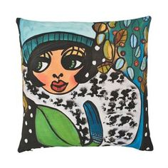 The beautiful Vinterfin cushion cover from Dixie is designed by Karolina Palmér. Karolinas naivistic motifs are characterized by strong colors and a lot of feelings. Vinterfin has a wintry pattern in wonderful colors and becomes a piece of art for your sofa!