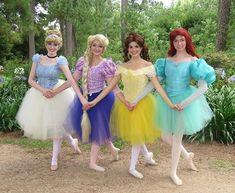 Pin for Later: 37 Creative Disney Princess Group Costumes Ballerina Princesses Rapunzel Cosplay, Cinderella Cosplay, Disney Cosplay, Princess Running Costume, Running Costumes, Disney Princess Costumes, Princess Tutu, Costumes For Teens, Group Costumes