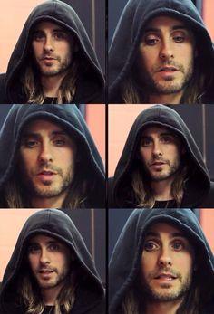 Sweet Jared Leto...i love hoodie jared!