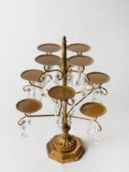 Chandelier 12 Piece Cupcake/Candle Holder $70.00 www.cakestandsgallery.com - Cake Stands Gold