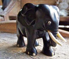 Vintage Ebony Elephant. $35.00, via Etsy.