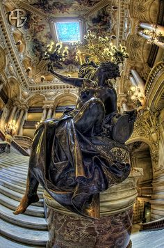 Torchère by A.G. Photographe, via Flickr. Opéra Garnier, Paris, France.
