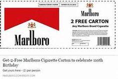 Get-2-Free Marlboro Cigarette Carton to celebrate 110th Birthday ...