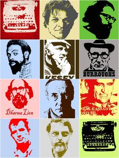 the Beat generation Beat Generation, Jack Kerouac, Emmanuel Carrère, Pop Art, French New Wave, Allen Ginsberg, Writers And Poets, Beatnik, Portraits