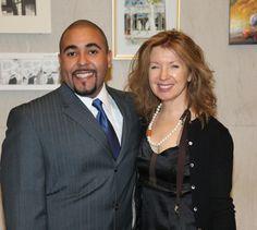 Tomas Rivera and Honoree April Gornick