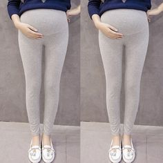 Maternity Pants Clothes for Pregnant Women Pants Solid Color and Thin Maternity Pregnancy Pants Drop