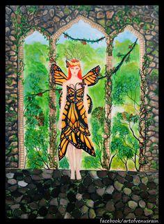 The monarch. 30x40 Acrylic on canvas.