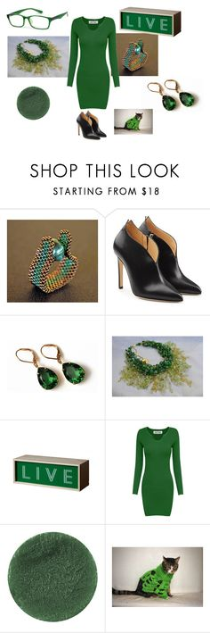 """Green is beautiful"" by mariellascode on Polyvore featuring Chloe Gosselin, Olivine, Seletti, Lipstick Queen and modern"