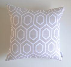 Cool Grey Geometric Cushion Cover | Moroccan Lattice Throw Pillow Case | ZAHAARA Sanctuary