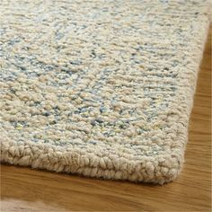 Trystan Blue Wool-Blend Rug | Crate and Barrel