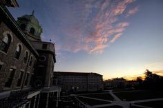 Immaculata University back campus at dawn