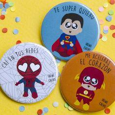Súper héroes al rescate #chapas #chapaspersonalizadas #regalosparabodas #bodas…                                                                                                                                                                                 Más