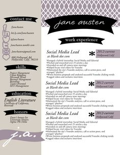 Clearance Resume And Cover Letter Includes Social Media Icons