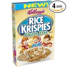 """""""Kellogg's Rice Krispies Gluten Free Cereal, Whole Grain Brown Rice"""" remember to get the kind labeled """"Gluten Free"""" which is usually around the same price as regular rice krispies and stocked on a nearby shelf at your grocery store"""