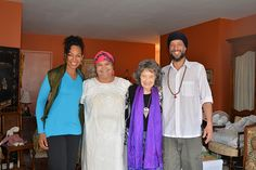Teresa Kay-Aba Kennedy, Master Healer Dona Leova, 96-year-old Yoga Master Tao Porchon-Lynch, Robert Carris in New York, November 2014