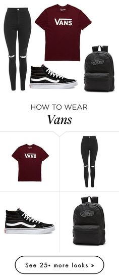 """Untitled #133"" by miranda-gonzales on Polyvore featuring Topshop and Vans #polyvoreoutfits"