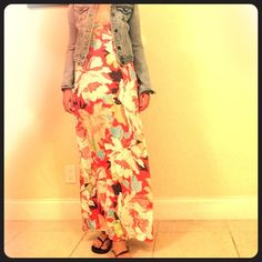 Floral dress Floral dress with adjustable straps. love....ady Dresses Maxi