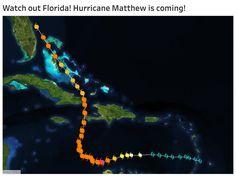 Tracking Hurricane Matthew