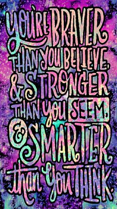 You are stronger galaxy iPhone/Android wallpaper I created for the app CocoPPa!!