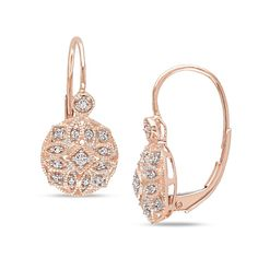 Shop for Miadora Rose Gold TDW Diamond Earrings. Get free delivery at Overstock - Your Online Jewelry Destination! Get in rewards with Club O! Platinum Earrings, Diamond Dangle Earrings, Filigree Earrings, Diamond Jewelry, Gold Necklace, Small Diamond Rings, Diamond Studs, Vintage Diamond, Luxury Jewelry