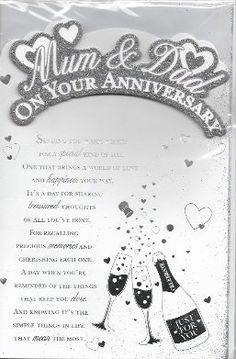 Mum & Dad On Your Anniversary PLE-35219-1 The Big Card Co…