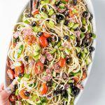 Italian Spaghetti Salad Recipe, Cold Spaghetti Salad, Italian Salad, Summer Spaghetti, Homemade Italian Dressing, Potato Dinner, Cranberry Salad, Chowder Recipes, Pasta Salad Recipes