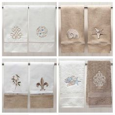 High-end embroidered guest towels for your home. Shop now at jacarandaliving.com