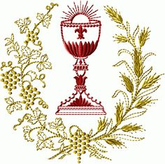 Chalice Wreath embroidery designs