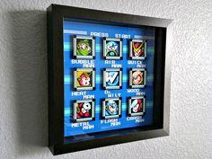 Mega Man 2 Stage Select Shadowbox by Decor8bitArt on Etsy
