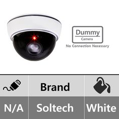 Soltech STS-DUMMY01 Dummy White Dome Camera with Blinking Red LED