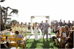 martin johnson house wedding | la jolla, ca | Marvin Tsai Photography | Tres Chic Affairs | Yellow and Grey | DIY