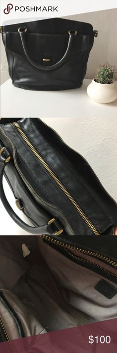 Madewell black leather bag. Black weather bag with wear. See photos. Priced to move. Damage is all fixable with a good clean and polish. Beautiful and sturdy bag to stand the test of time. Madewell Bags Shoulder Bags