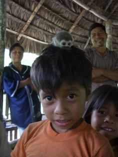 Yep, that's a monkey hiding out in this little boy's hair! With the pending sale of 3 million acres of pristine rainforest to China for oil drilling, both people and animals in the Ecuadorian Amazon are fighting for their land and for their lives. Funds raised through this year's Global Seva Challenge will help us to protect parts of the rainforest from illegal logging, mining and oil exploration, and provide micro-loans, vocational training and healthcare to local people.