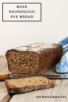 This sourdough whole rye bread is compact, dense, and loaded with flavor. It's perfect for a Danish smörrebröd or why not with just some butter. Sourdough Rye Bread, All You Need Is, Bread Recipes, Danish, Banana Bread, Compact, Butter, Tasty, Traditional